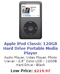 Apple iPod Classic 120GB Portable Media Player