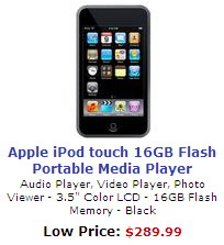 Apple iPod Touch Screen Media Player