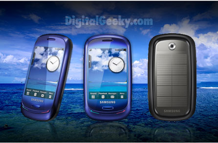 Samsung Blue Earth Cell Phone