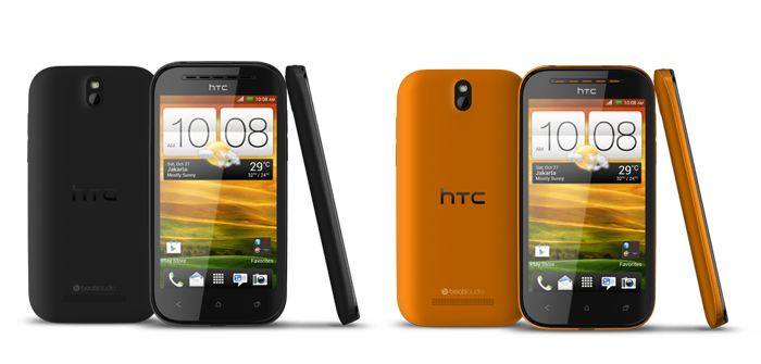 HTC Desire SV Black Orange Colours