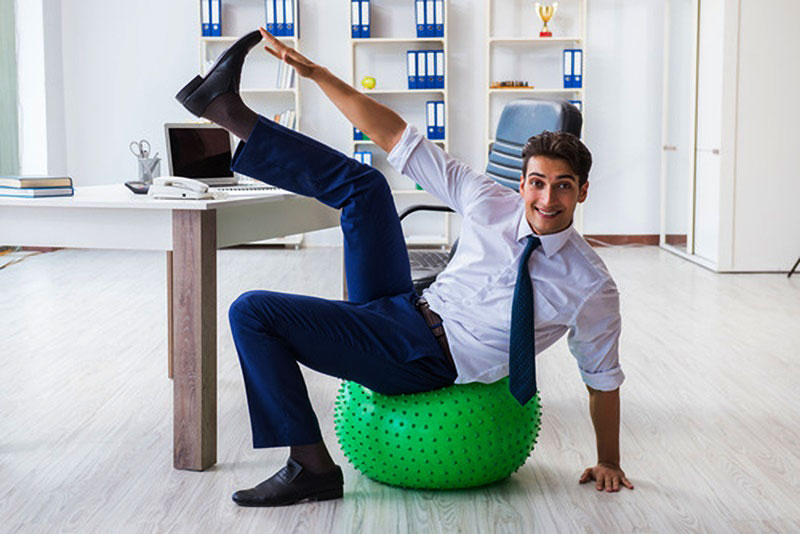 office workout stay fit
